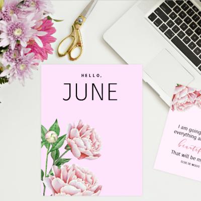 FREE Printable June Bullet Journal: 18 Beautiful Pages!