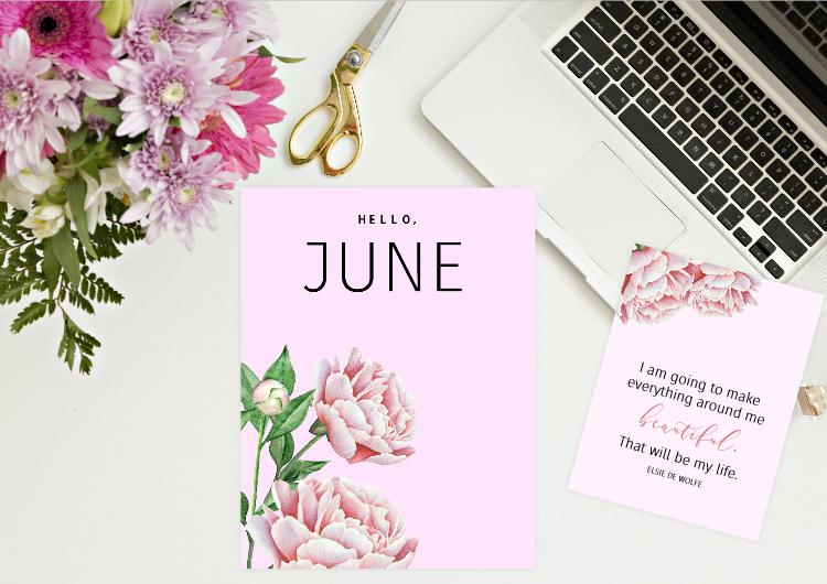 free printable June bullet journal