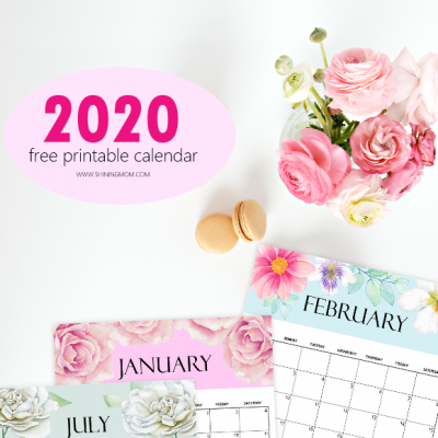 FREE Calendar 2020 Printable: 12 Cute Monthly Designs to Love!
