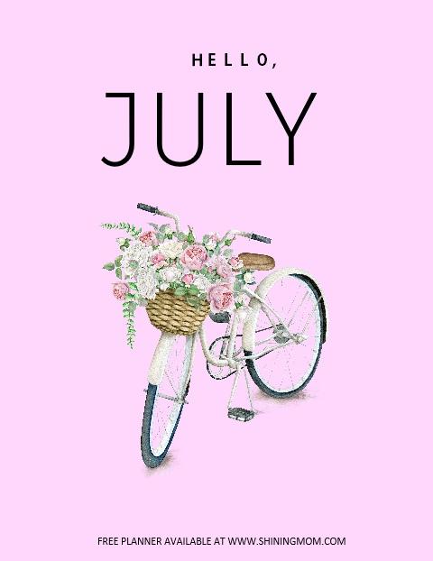 July planner free printable