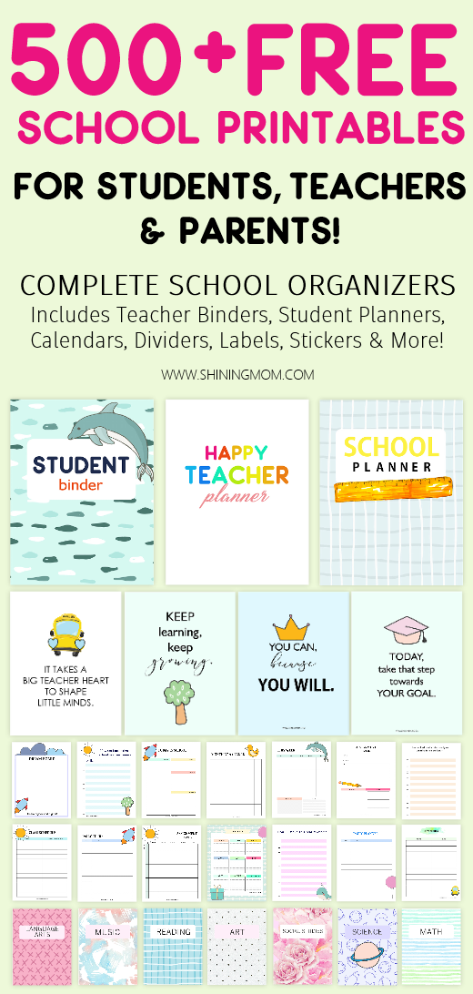 photo about Teacher Binder Printables known as 500+ Ideal College Totally free Printables for Academics and Learners!