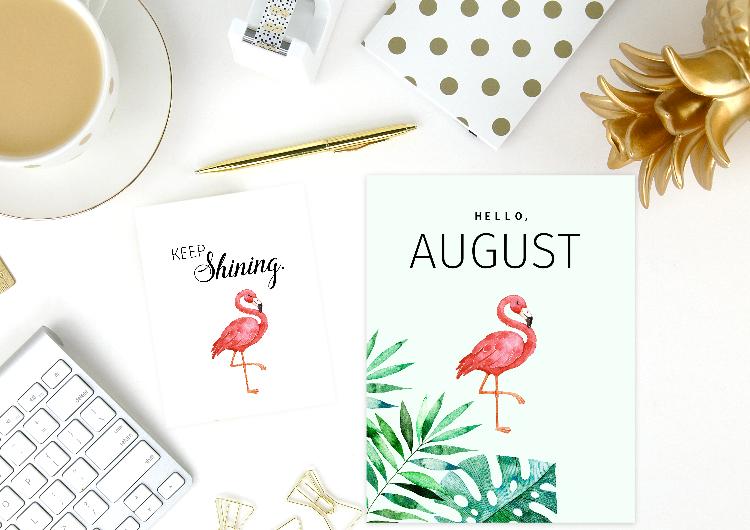 free printable August Bullet Journal