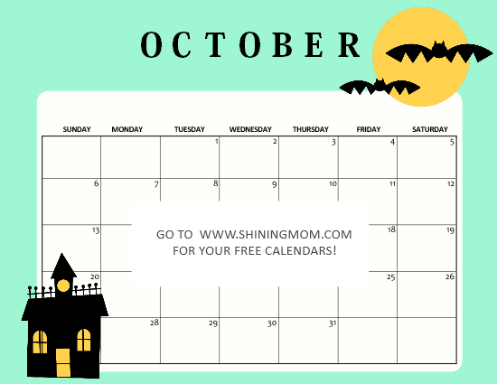 Cool Calendar Printable By Month 2020 October Halloween For School Free Printable October 2019 Calendar: 16 Fantastic Designs!