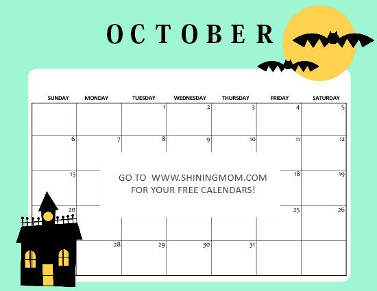 Halloween calendar 2019