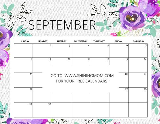 September 2019 calendar free