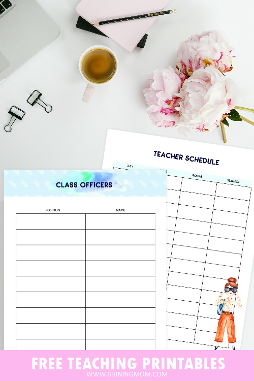 teacher binder printables