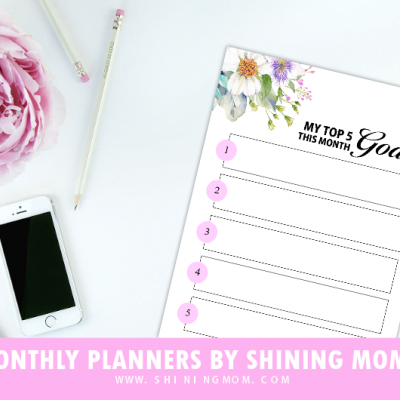 Protected: Monthly Planners Library by Shining Mom