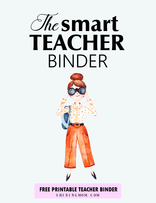 teacher binder free printable