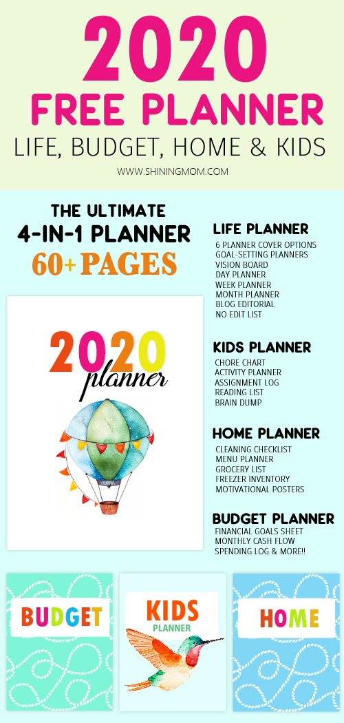 Free Planner 2020 Design a Life You Love!