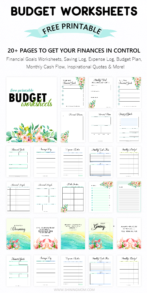 photograph about Free Printable Budget Templates titled Printable Price range Worksheet: 20 No cost Equipment Towards Be Monetarily