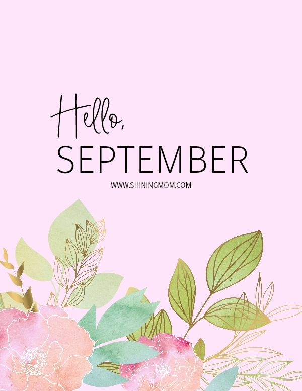 September bullet journal and planner free pprintable