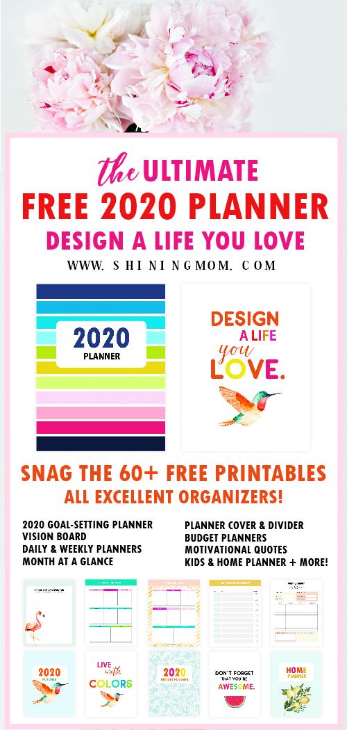 free printable 2020 planner