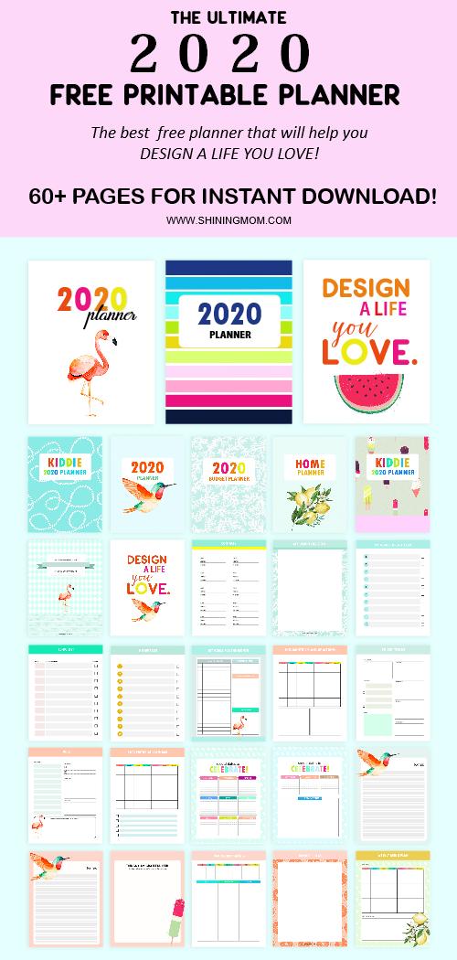 2020 free printable planner