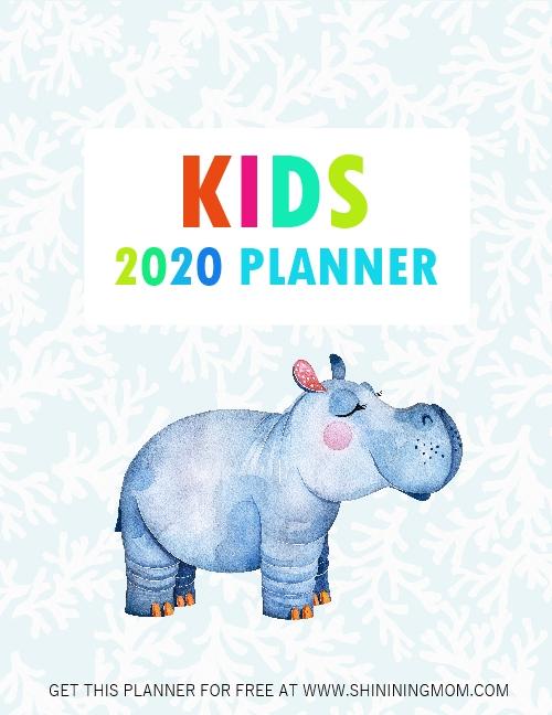 kids planner 2020 free printable