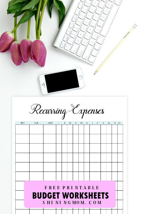 recurring expenses printable