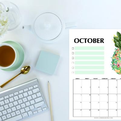 Get Your Free October 2019 Calendar!