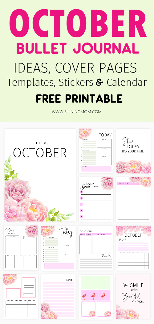 October bullet journal free printable