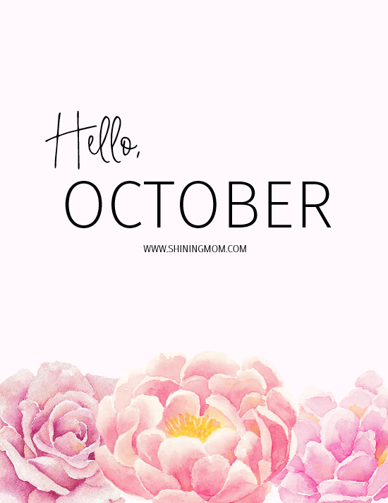 October bullet journal free printables