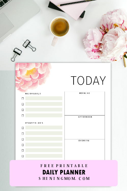 daily planner free printable