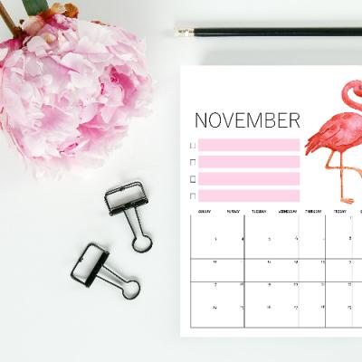 FREE November Calendars for You!