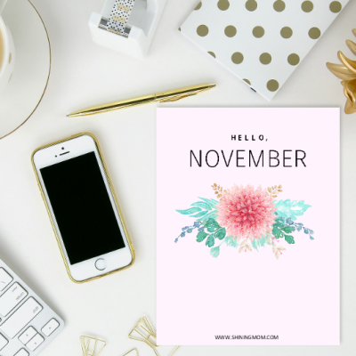 Free Printable November Planner and Bullet Journal