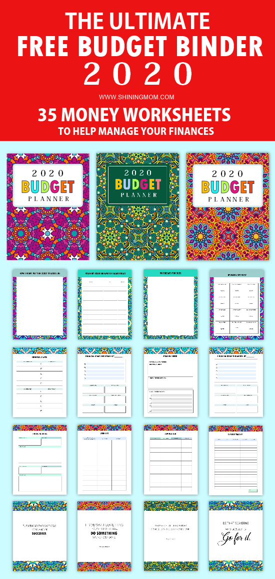 FREE Printable Budget Planner 2020: 35 Budget Templates!
