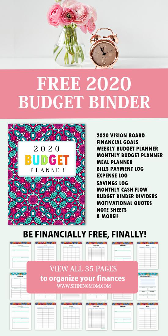 free printable budget binder 2020