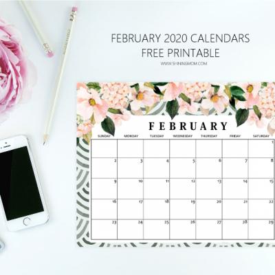 FREE Printable February 2020 Calendar: 12 Awesome Designs!