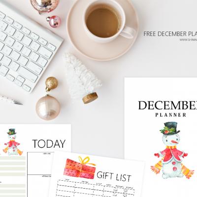 December Bullet Journal & Planner Free Printables