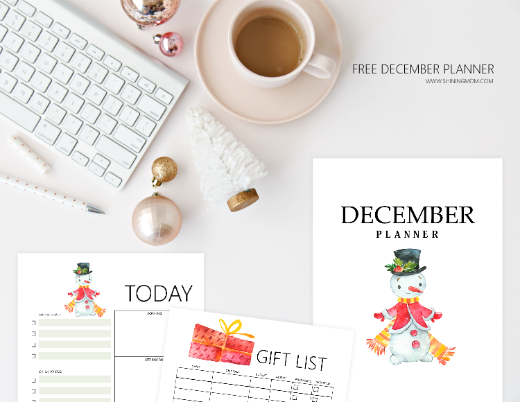 free printable December bullet journal