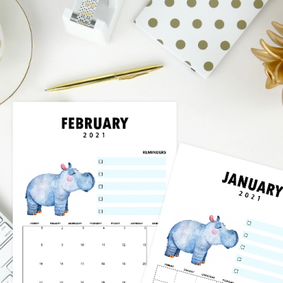 Protected: 2021 Printable Calendars by Shining Mom