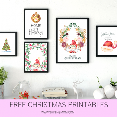 Free Printable Christmas Decorations for Your Home