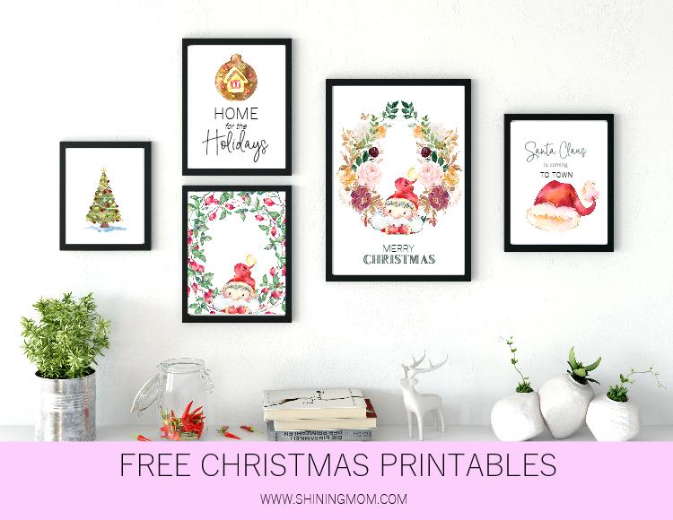 printable Christmas decorations free