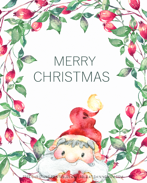 free printable Christmas decorations and greeting cards