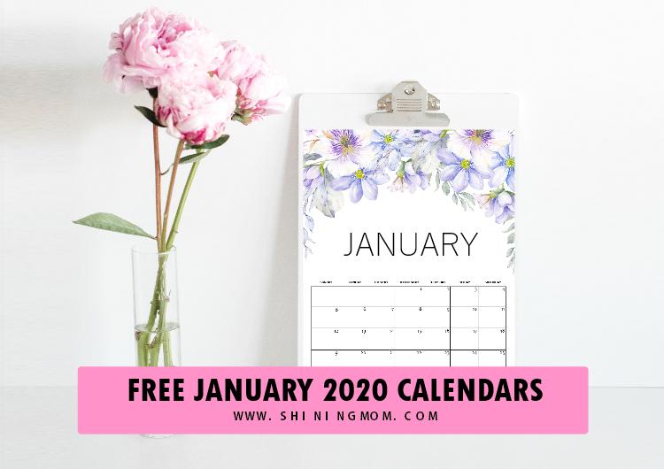 calendar 2020 January
