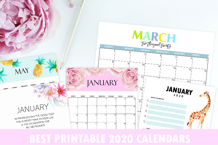 Top 30  Printable Calendars 2020 to Download for FREE!