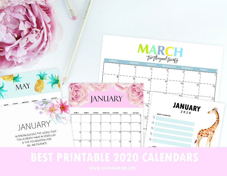 Top 30 Printable Calendars 2020 To Download For Free