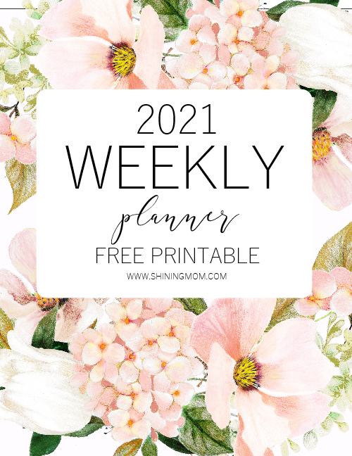 weekly planner 2021 free printable