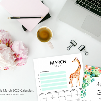Free Printable March 2020 Calendar: 12 Awesome Designs!