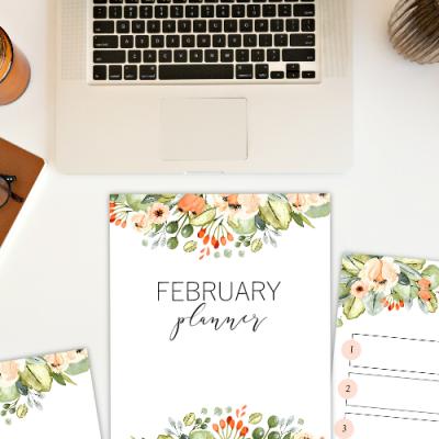 Free February Goal-Setting Planner
