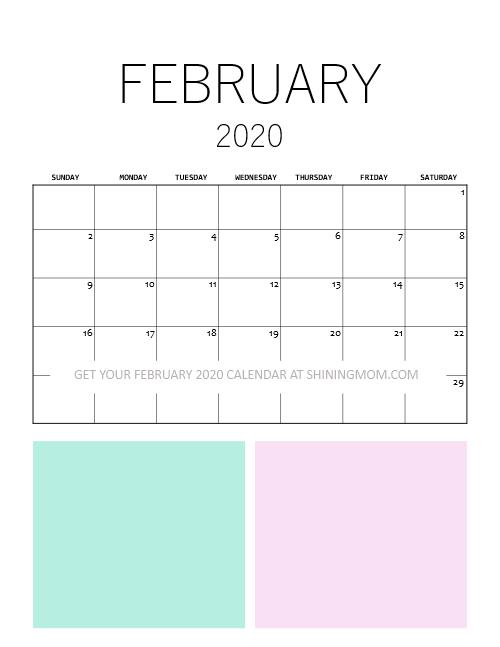 Minimalist February Calendar
