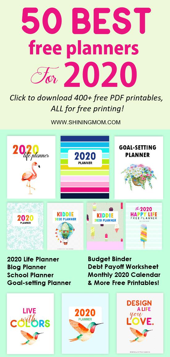 Best 2020 Planner Free Printables