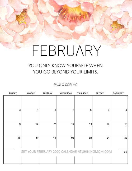 February Calendar Free