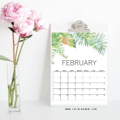Get Your FREE February Calendars!