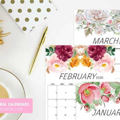2020 Calendar in Stunning Florals {Free Printable}