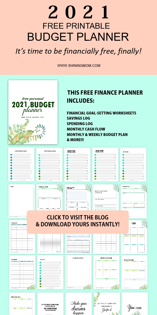 free printable 2021 budget planner