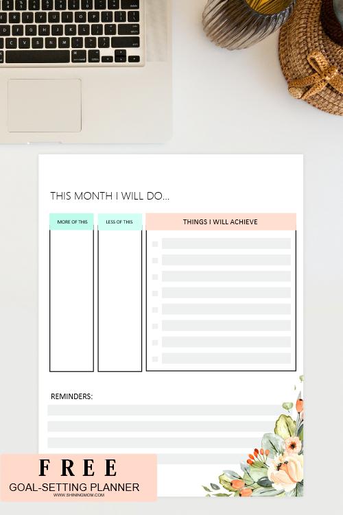 free goals planner