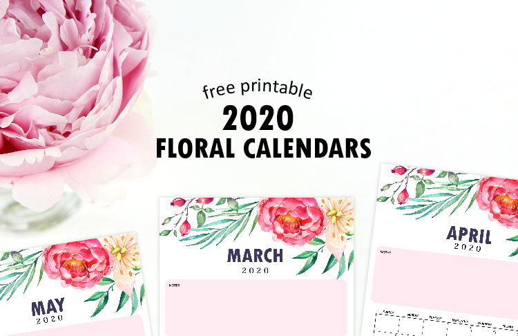 2020 monthly calendar printable