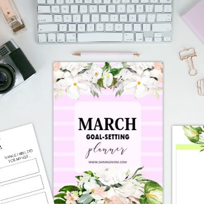 FREE March Goal-Setting Planner: Dainty and Pretty!