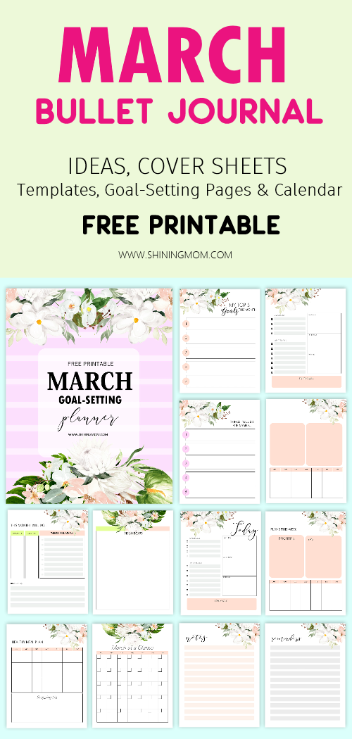 March bullet jounal free printable